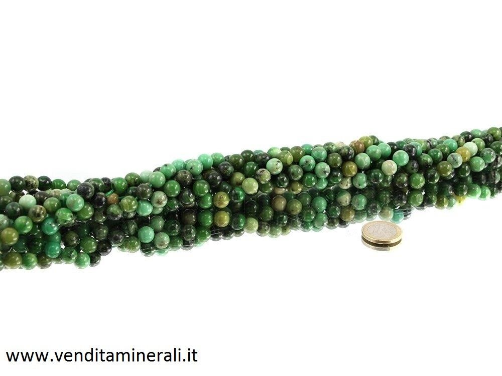 Collana in oplale verde