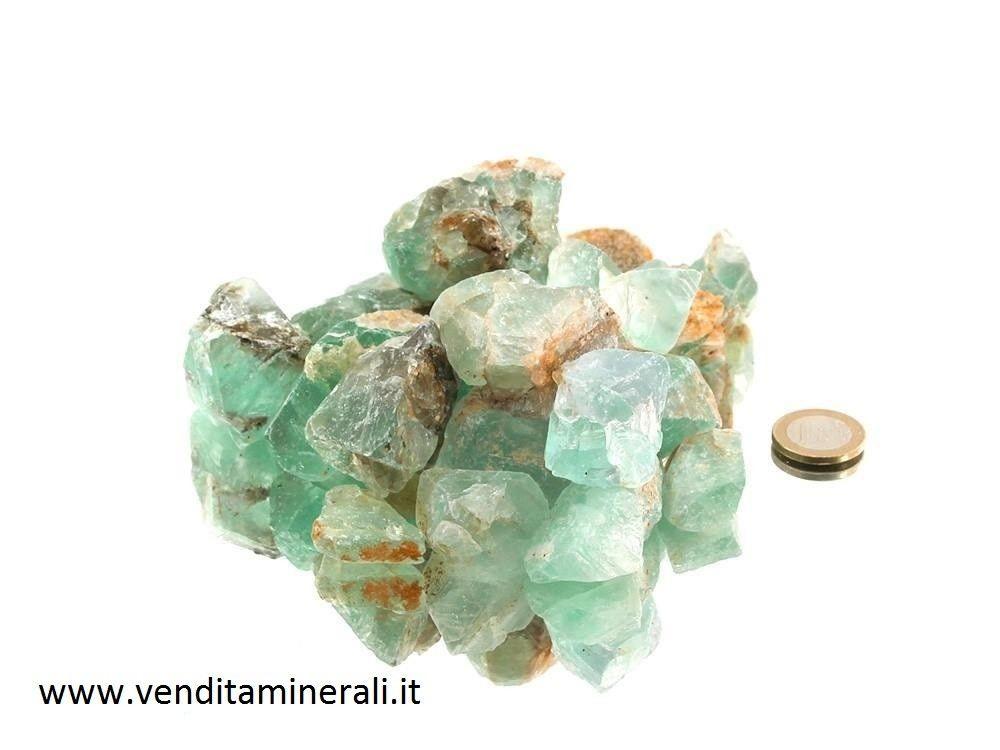 Piccole pietre grezze di fluorite - 1 kg