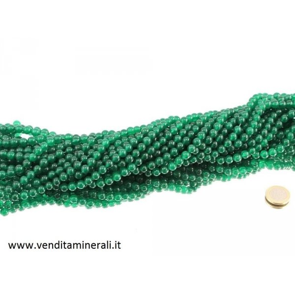 Collana color aventurine da 8 mm