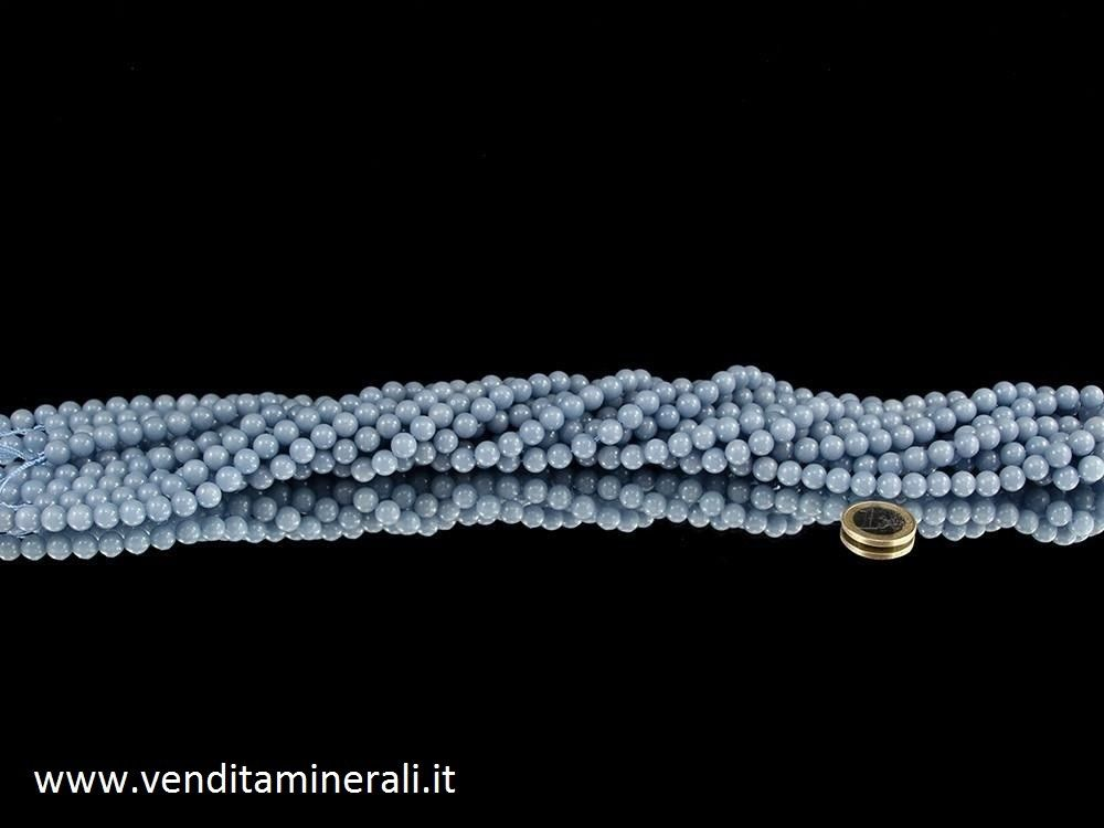 Collana a sfera Angelite da 8 mm (anidrite)