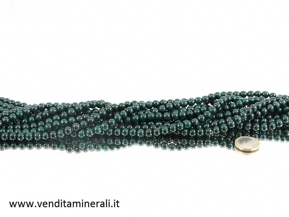 Collana di malachite da 8 mm
