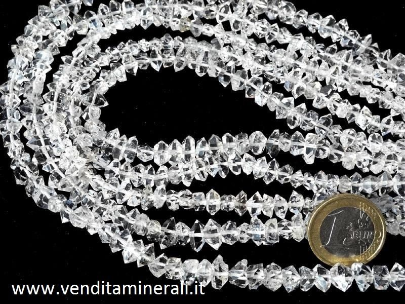 Collana di diamanti Herkimer