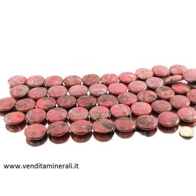 Bottone in filo di rhodonite XL