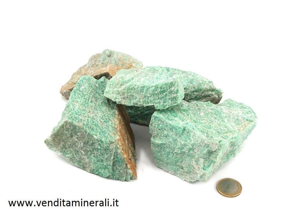 Pietre ruvide di amazzonite - 1 kg