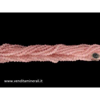 Collana a sfera in quarzo rosa da 8 mm