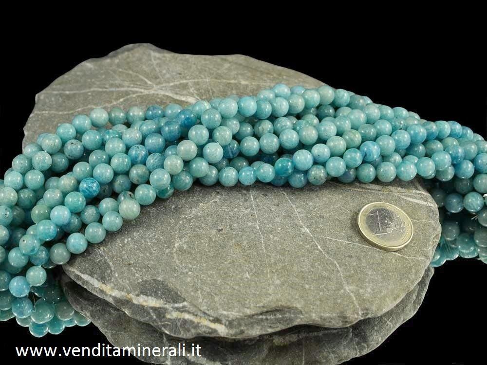 Collana in amazonite da 8 mm