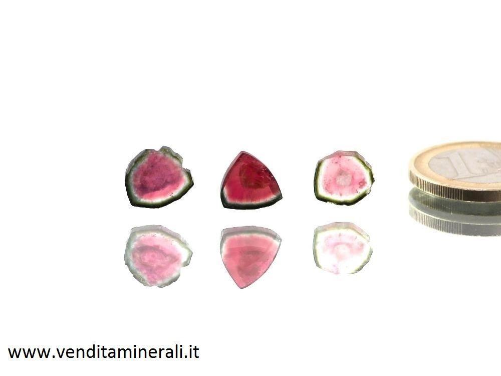 Pietra di tormalina a forma di anguria - 1 pezzo