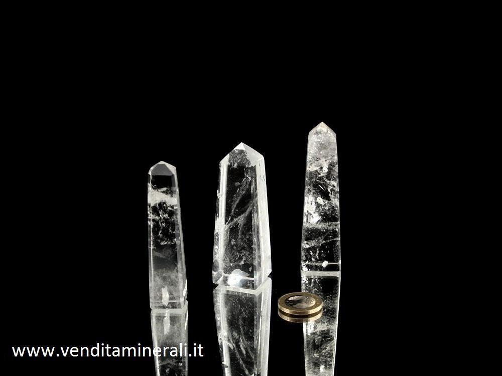Obelisco di cristallo di rocca circa 7 - 9 cm / 1 pezzo