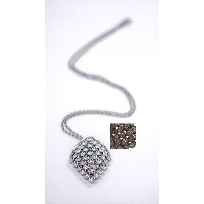 Necklace - Lumière pink gold