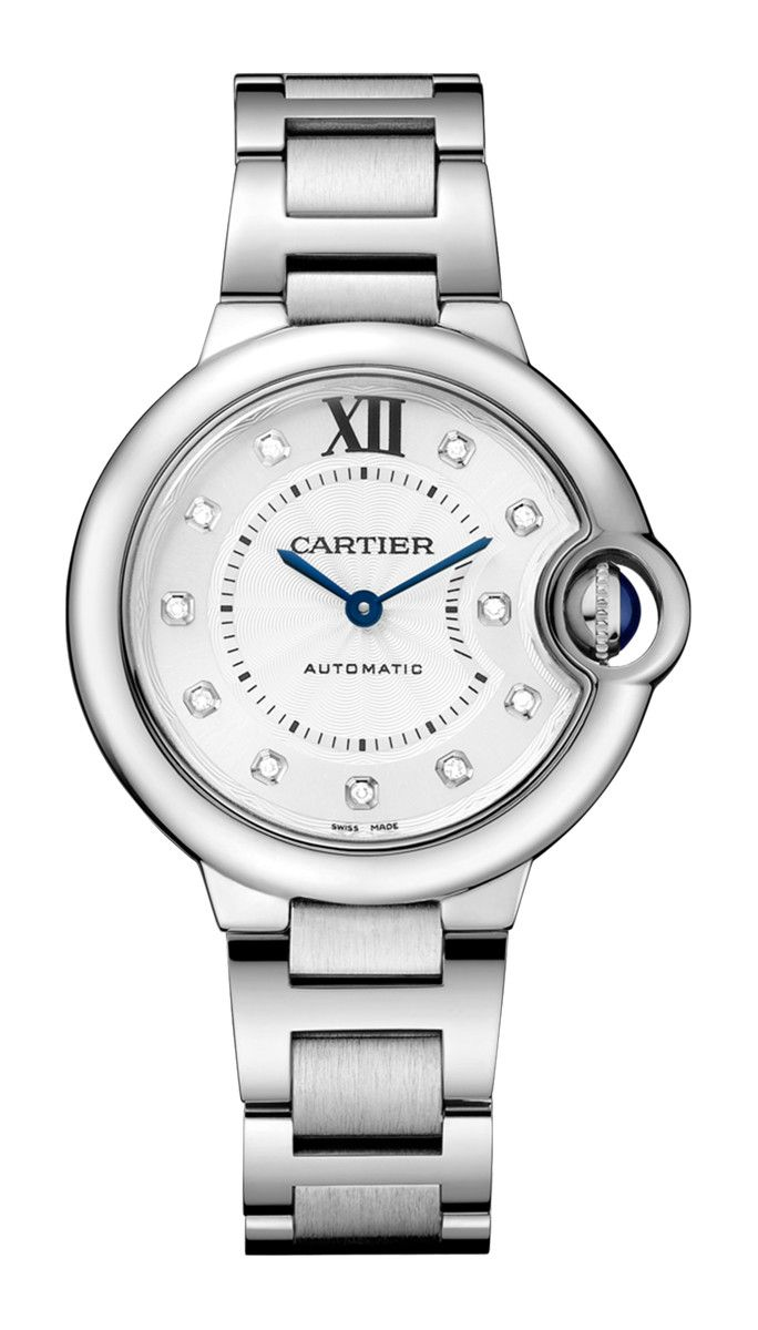 BALLON BLEU DE CARTIER 33 MM, ACCIAIO, DIAMANTI - WE902074