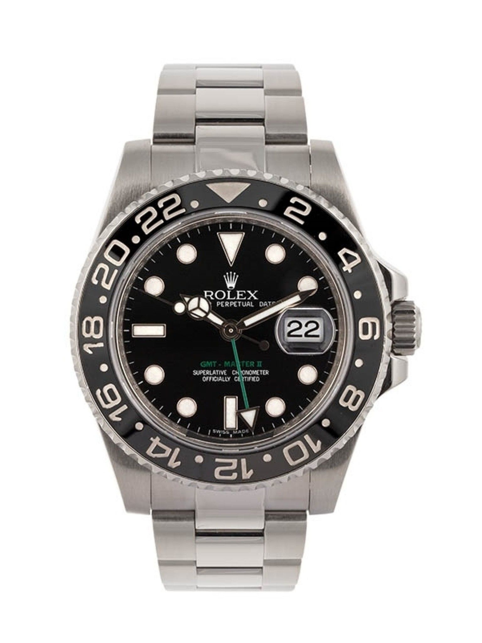 ROLEX GMT-MASTER II 40MM IN ACCIAIO REFERENZA 116710LN