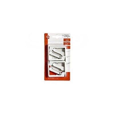 Home 299/4 Confezione 4 Fermaporte con Molla, 5.5x3x2 cm, 4 unit?