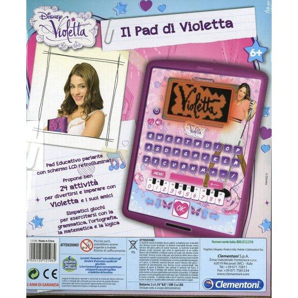 Clementoni 12198 - Pad Educativo Parlante, Il Pad di Violetta, 24 Attivit?, 6+