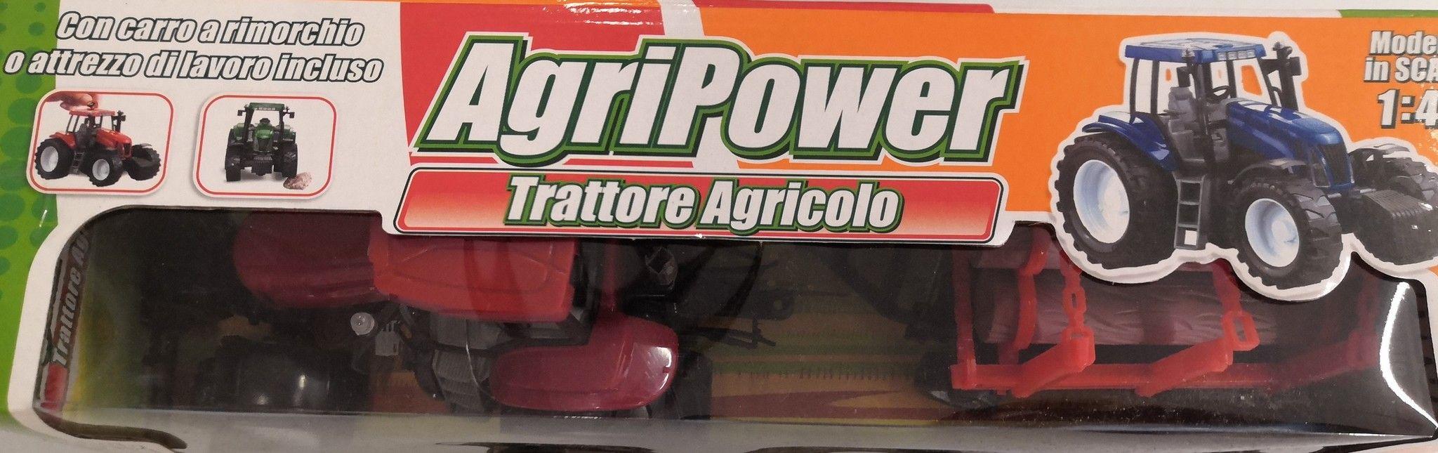 TRATTORE AGRICOLO CON ACCESSORIO DA LAVORO