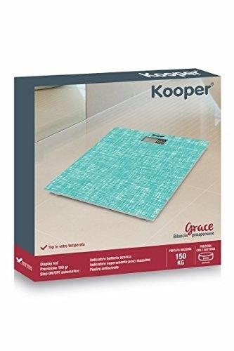 Kooper 2420596 Bilancia Pesapersone, Azzurro