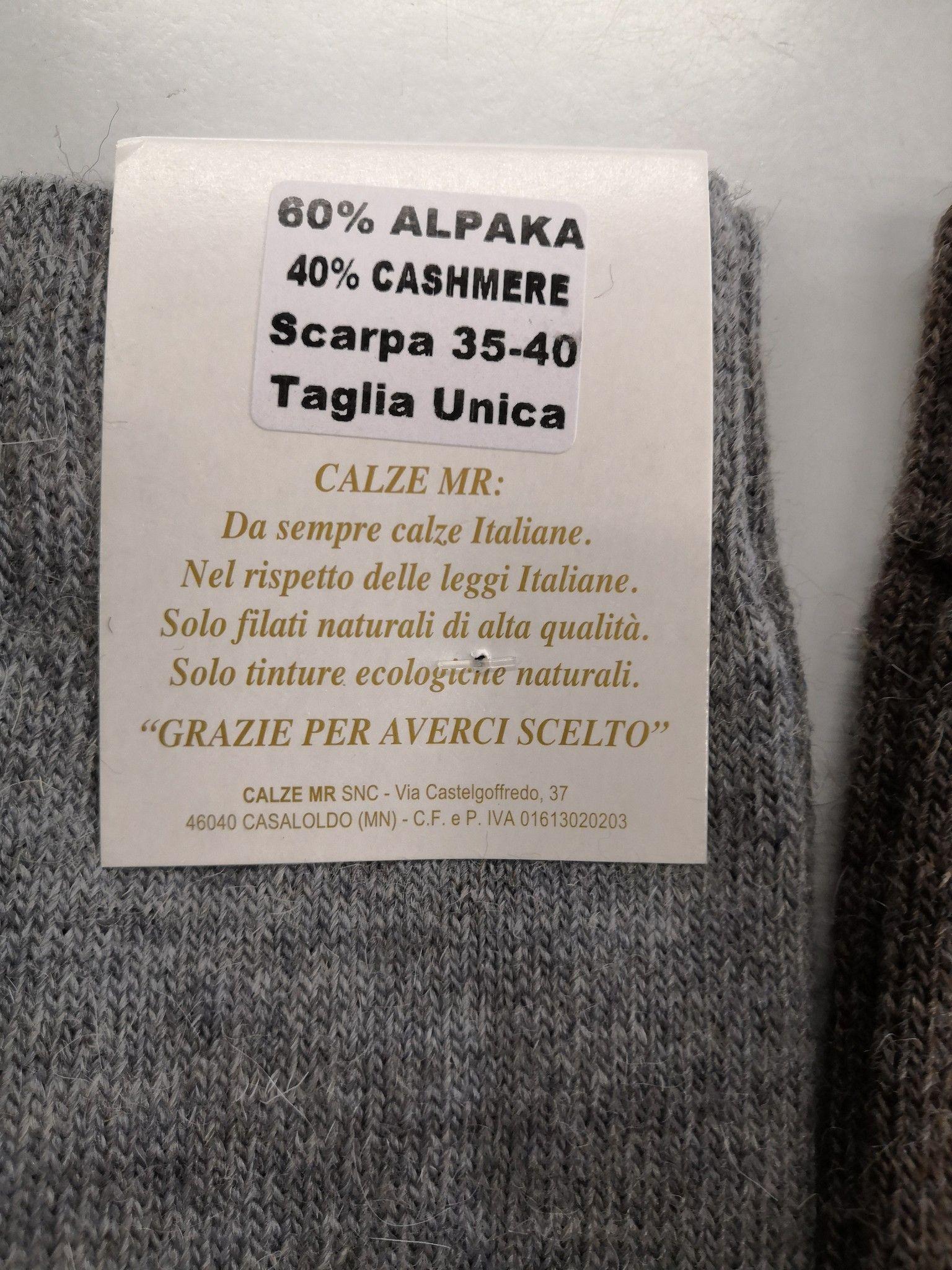 CALZINO ALPAKA CASHMERE