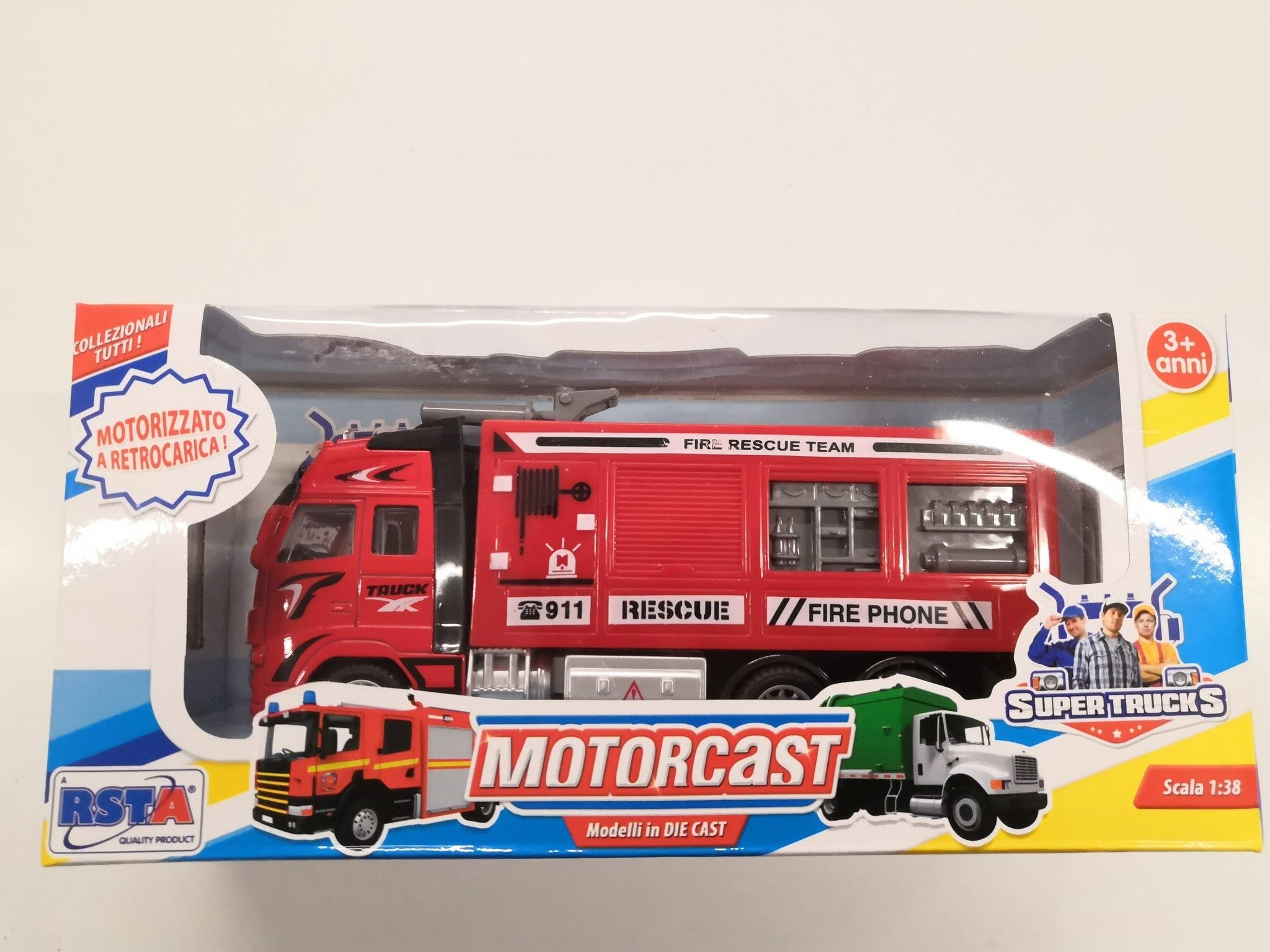 RONCHI SUPERTOYS SRL- 10579 Camion Die Cast, Multicolore