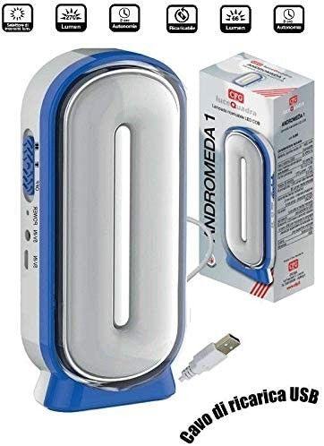 CFG Lampada Torcia Ricaricabile LED USB Portatile Andromeda 1 Camping Pesca