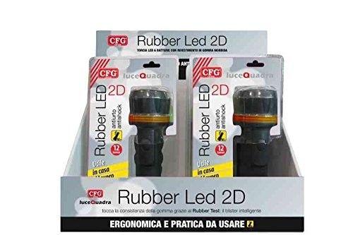 Torcia Rubber 3 Led Antiurto