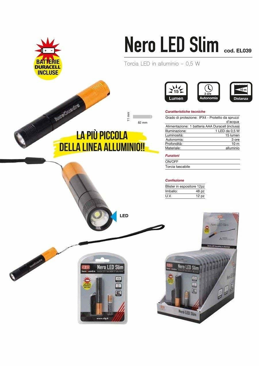 CFG Torcia Led In Alluminio El039 0,5w Pile Incluse