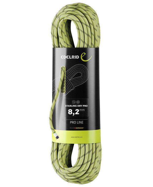 EDELRID Mezza Corda Starling PRO Dry 8,2 mm Corde da Arrampicata 60 mt