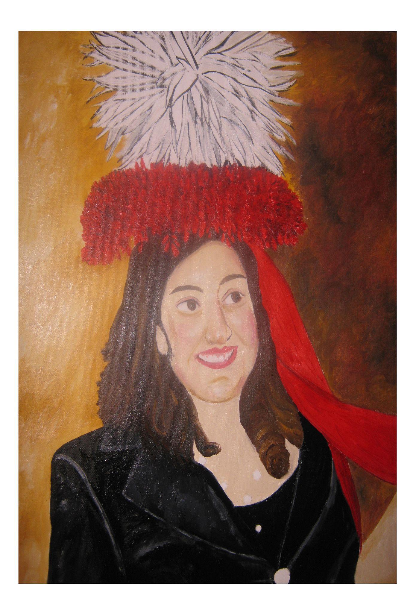 Ritratto di ragazza con corona rossa