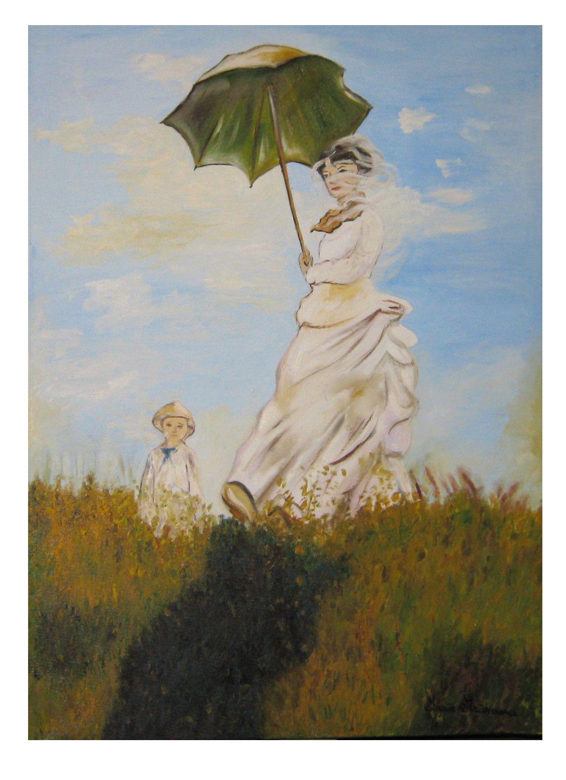 Passeggiata con figlio - Copia di Claude Monet
