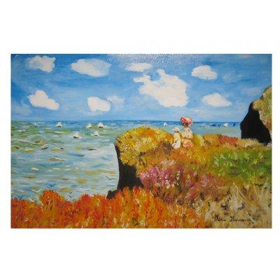 Passeggiata sulla scogliera - Copia di Claude Monet