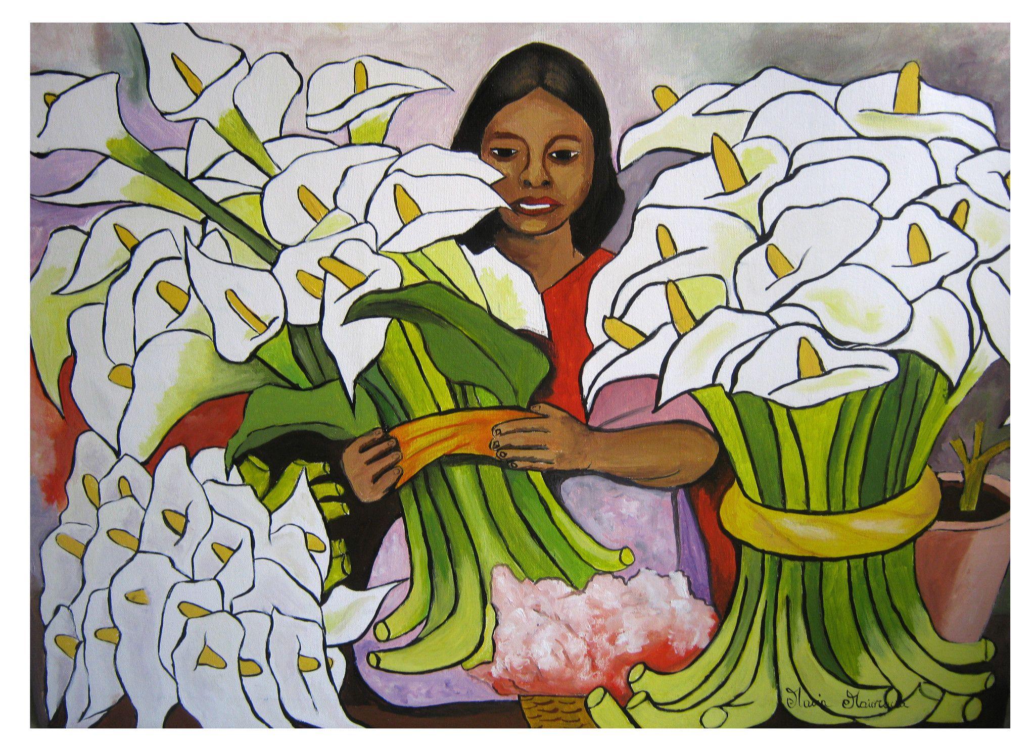 La venditrice di calle - Copia di Diego Rivera
