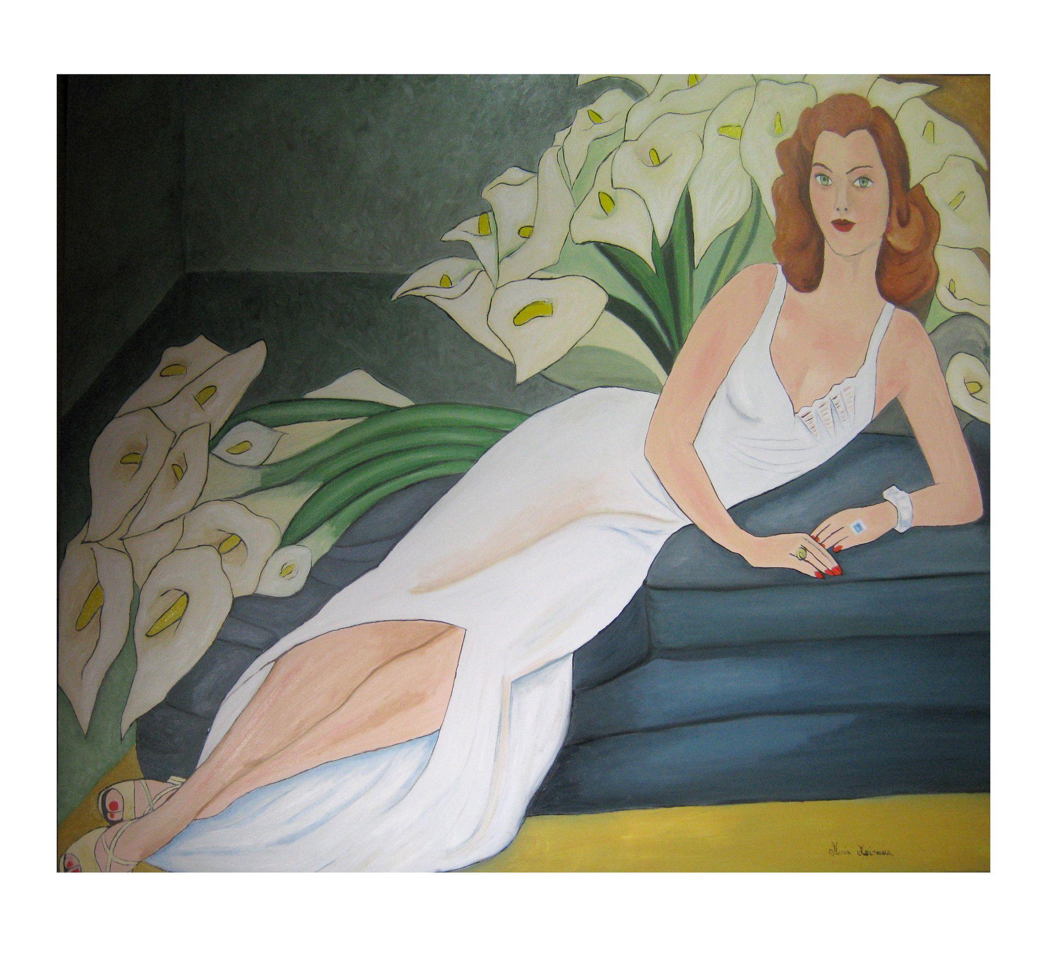 Donna sul divano - Copia di Diego Rivera