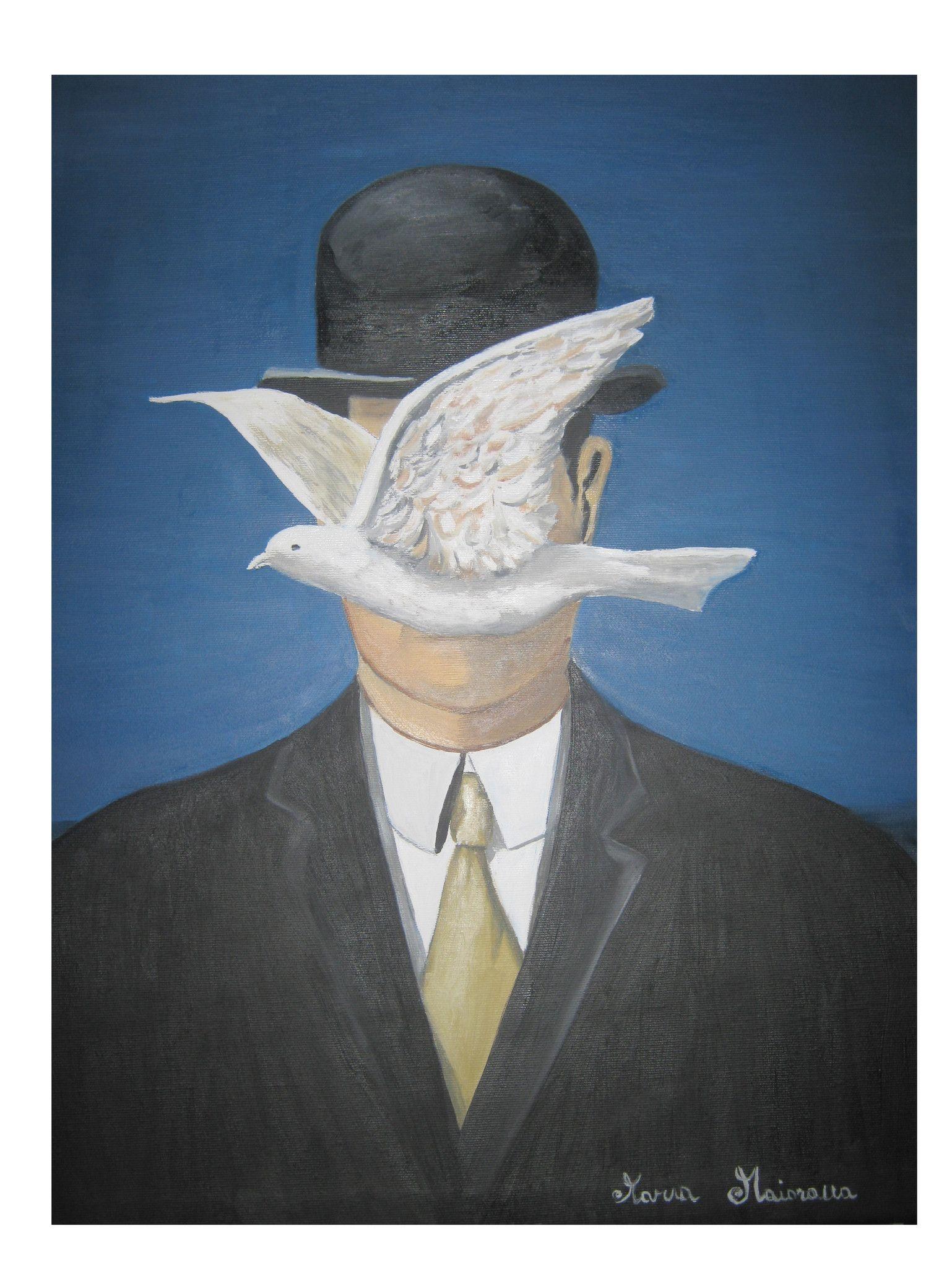 Uomo con cappello - Copia di René Magritte