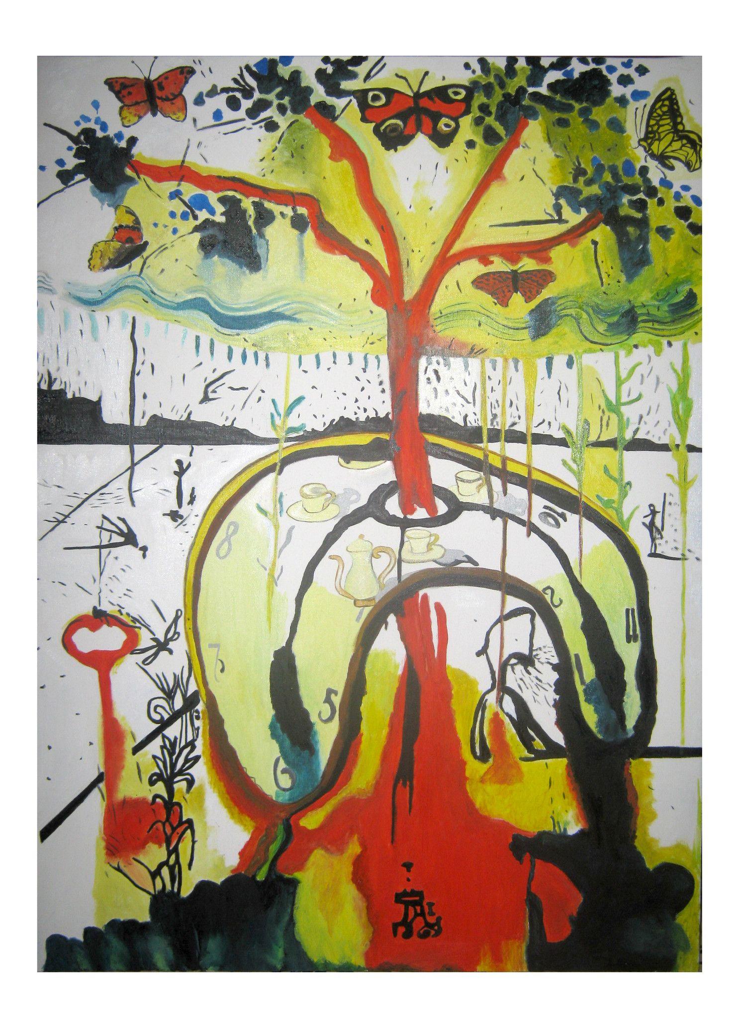 A Mad Tea Party - Copia di Salvador Dali - Alice in Wonderland