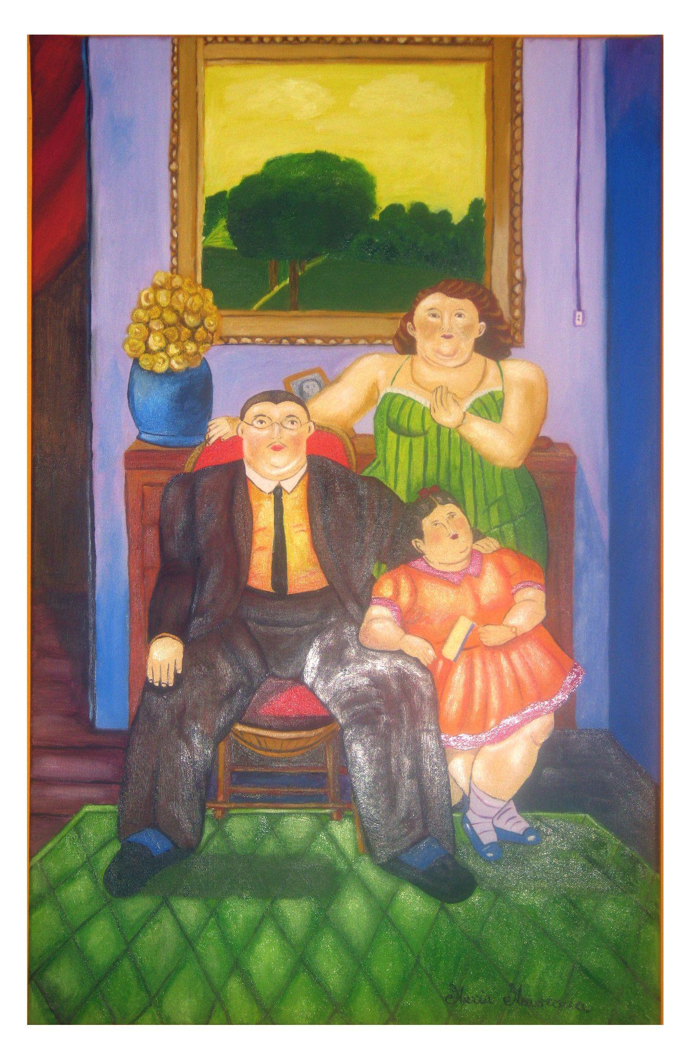 Famiglia colombiana - Copia di Fernando Botero