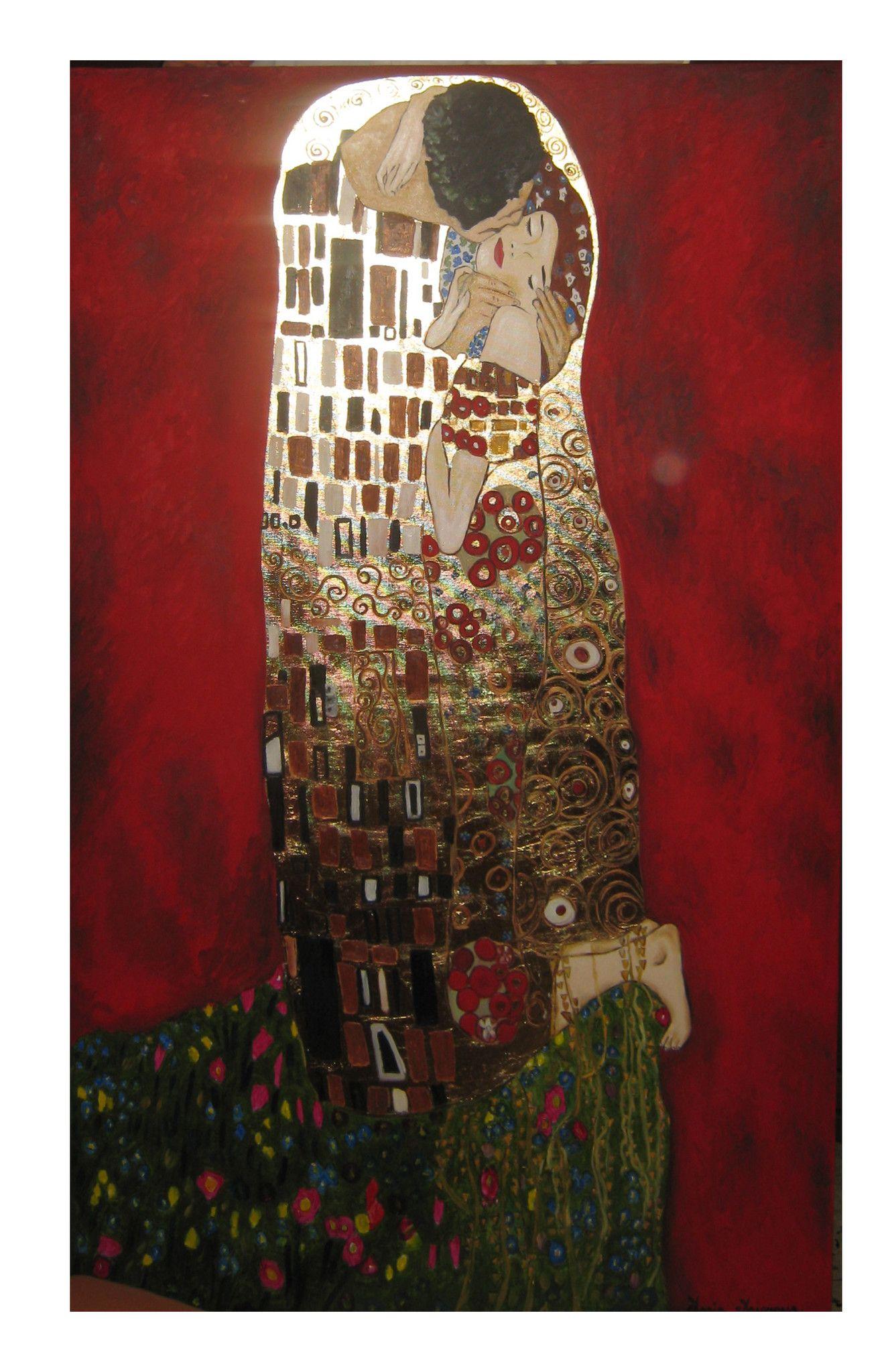 Il bacio - Copia di Gustav Klimt - 140x80