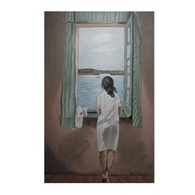 Ragazza alla finestra - Copia di Salvador Dalí