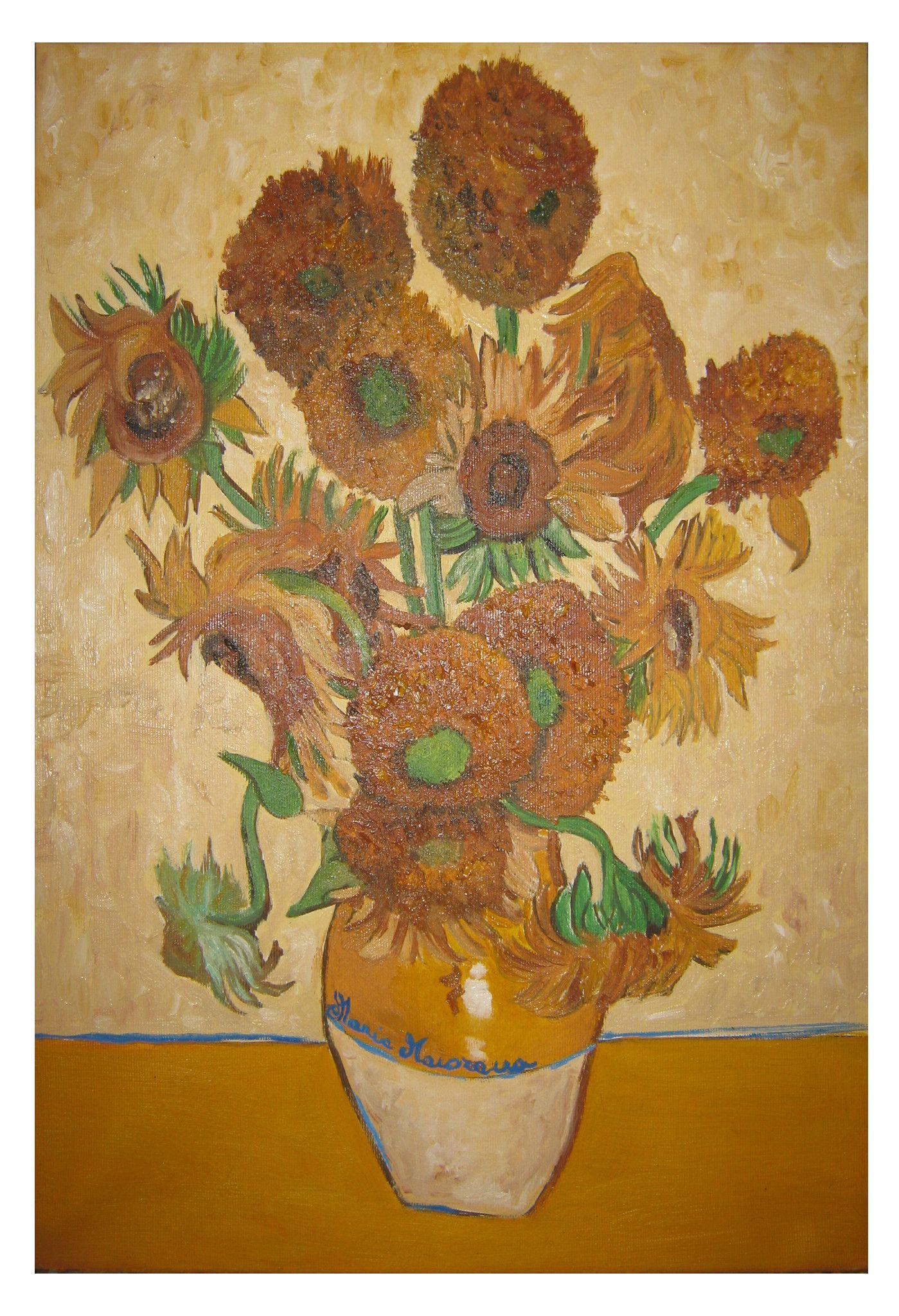 Vaso con quindici girasoli - Copia di Van Gogh