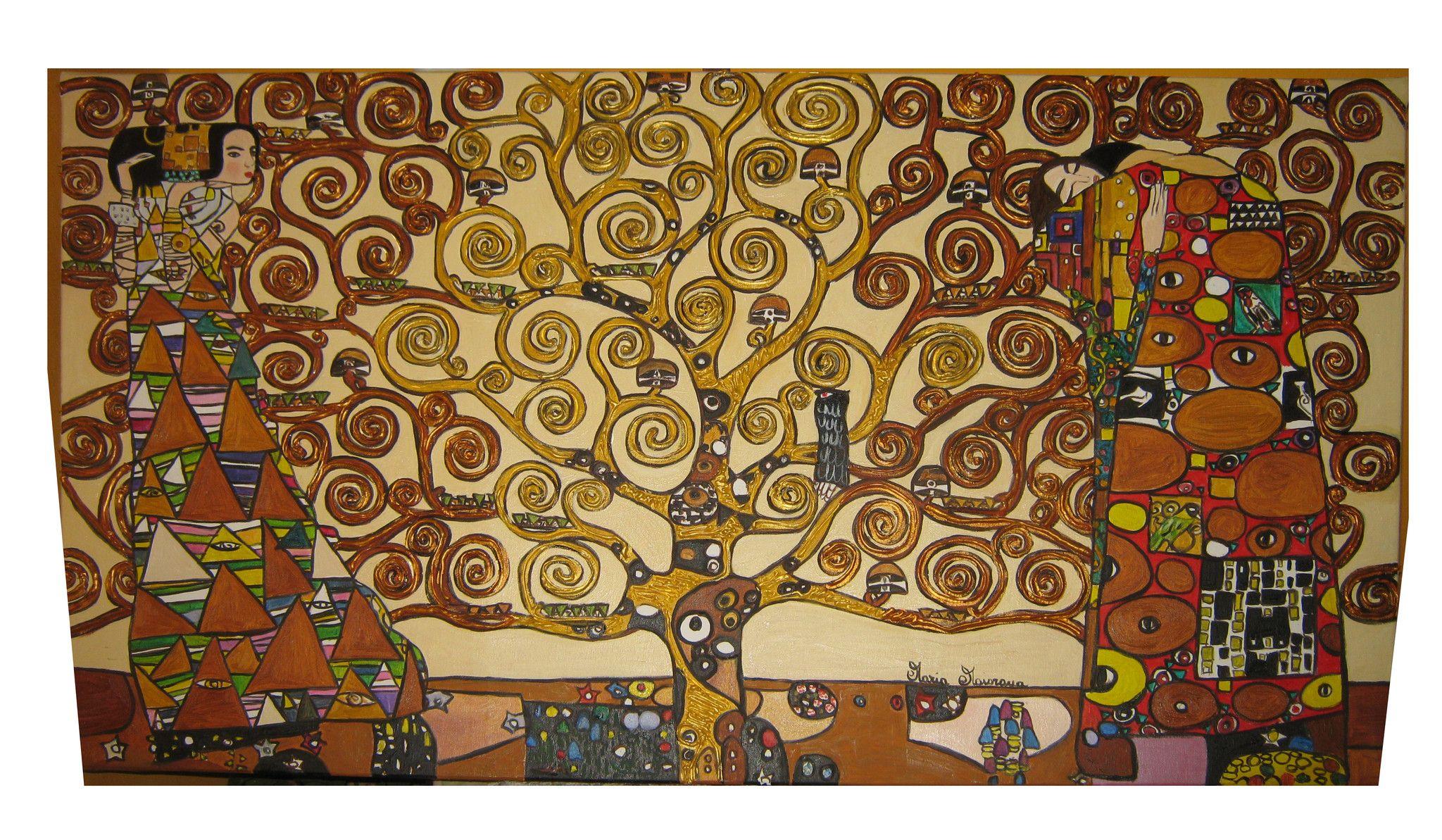 L'albero della vita - Copia di Gustav Klimt - 140x90