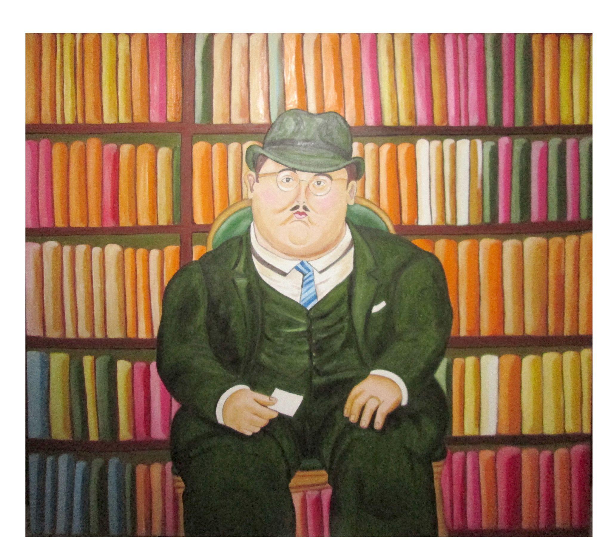 Il notaio - Copia di Fernando Botero - 130x160