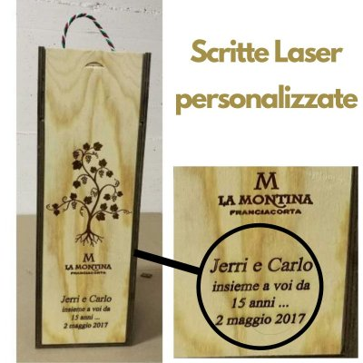 LA MONTINA FRANCIACORTA BRUT BALTHAZAR 12 LT  + CASSETTA LEGNO+SERIGRAFIA
