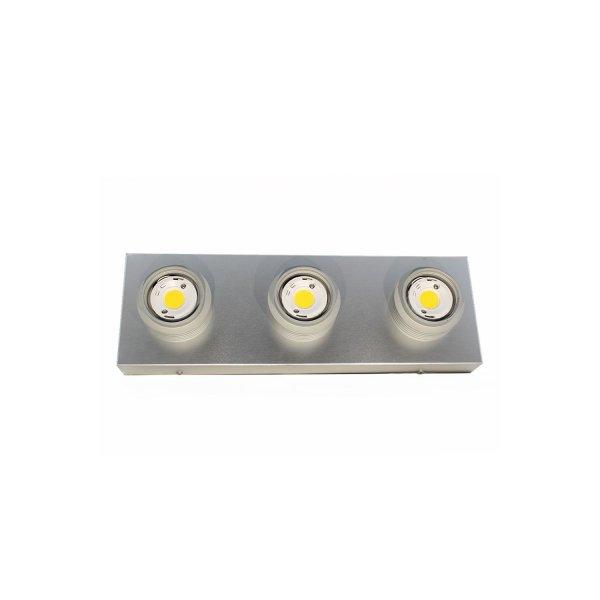 Proiettore COB 3 Colore Alluminio Neutro