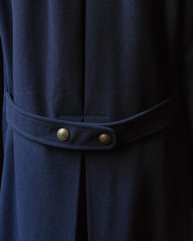 Fortela Cappotto Militare Doppiopetto Blu
