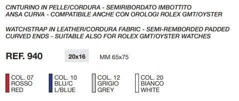 Cinturino Compatibile Rolex 940