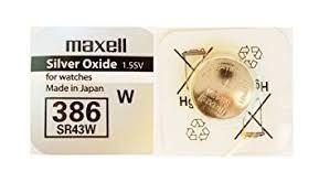 Pile per Orologi Maxell 386