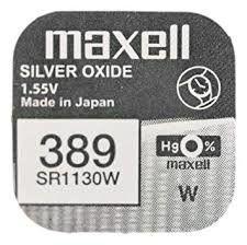 Pile per Orologi Maxell 389