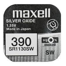 Pile per Orologi Maxell 390