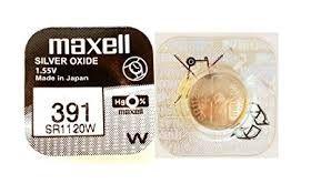 Pile per Orologi Maxell 391