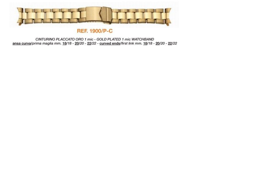 Cinturino Metallo 1900/P-C