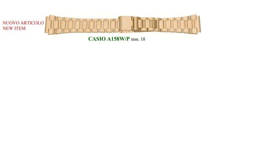 Cinturino Metallo Casio Laminato A159