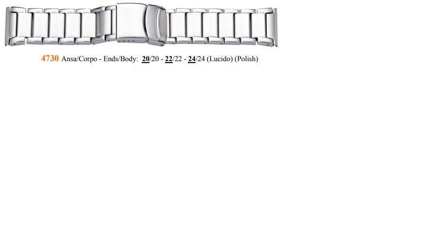 Cinturino Metallo 4730