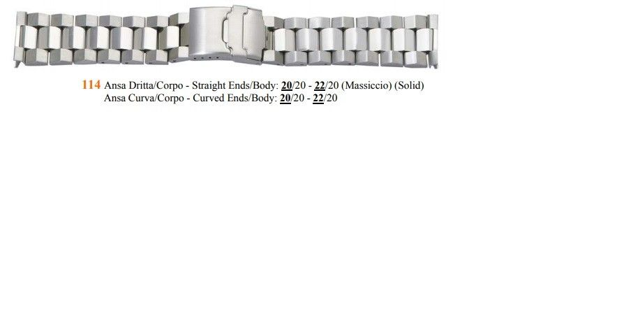 Cinturino Metallo 114